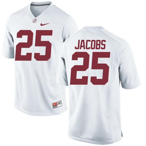 Men's Nike Joshua Jacobs Alabama Crimson Tide Game White Jersey