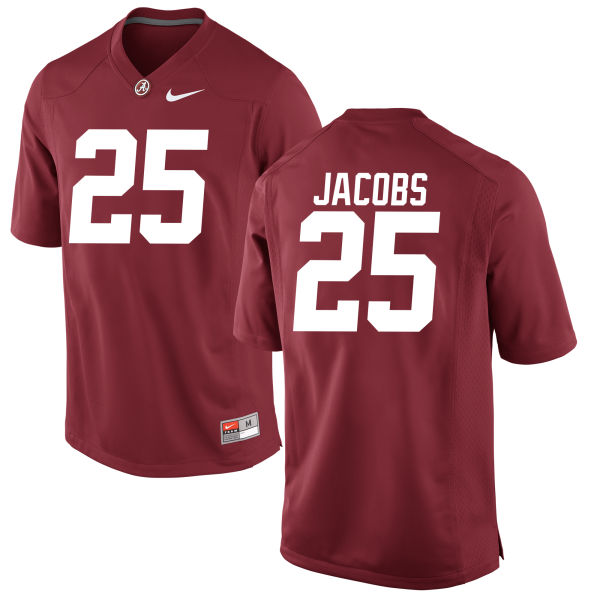 Youth Joshua Jacobs Alabama Crimson Tide Game Crimson Jersey