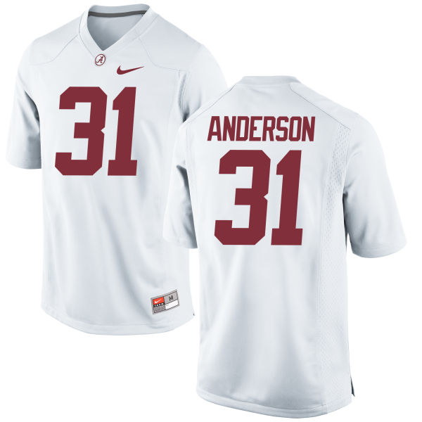 Men's Nike Keaton Anderson Alabama Crimson Tide Game White Jersey
