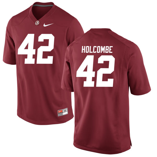 Men's Keith Holcombe Alabama Crimson Tide Authentic Crimson Jersey