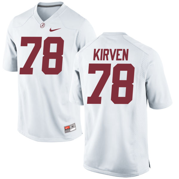 Men's Nike Korren Kirven Alabama Crimson Tide Replica White Jersey