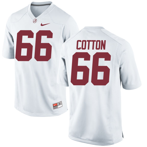 Men's Nike Lester Cotton Alabama Crimson Tide Replica White Jersey