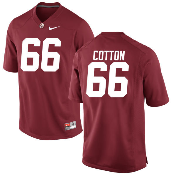 Men's Lester Cotton Alabama Crimson Tide Authentic Crimson Jersey