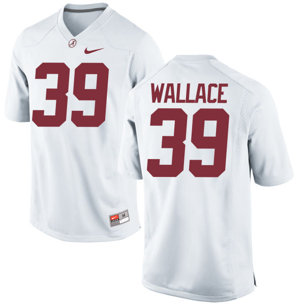 Women's Nike Levi Wallace Alabama Crimson Tide Replica White Jersey