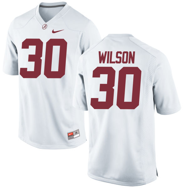 Men's Nike Mack Wilson Alabama Crimson Tide Game White Jersey