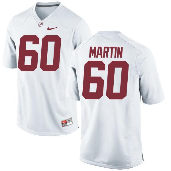 Men's Nike Malik Martin Alabama Crimson Tide Game White Jersey
