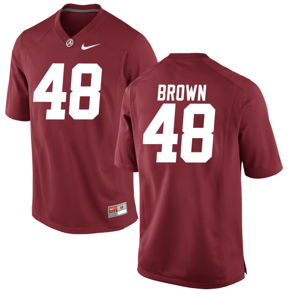 Men's Mekhi Brown Alabama Crimson Tide Replica Brown Jersey Crimson