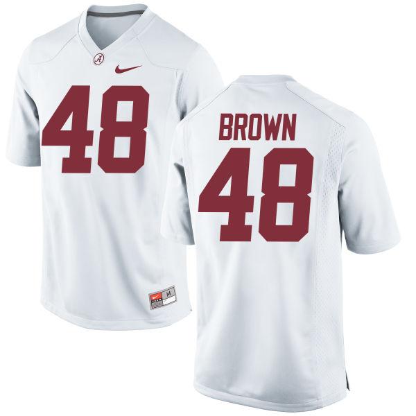 Men's Nike Mekhi Brown Alabama Crimson Tide Authentic White Jersey