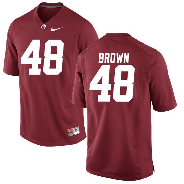 Men's Mekhi Brown Alabama Crimson Tide Game Brown Jersey Crimson