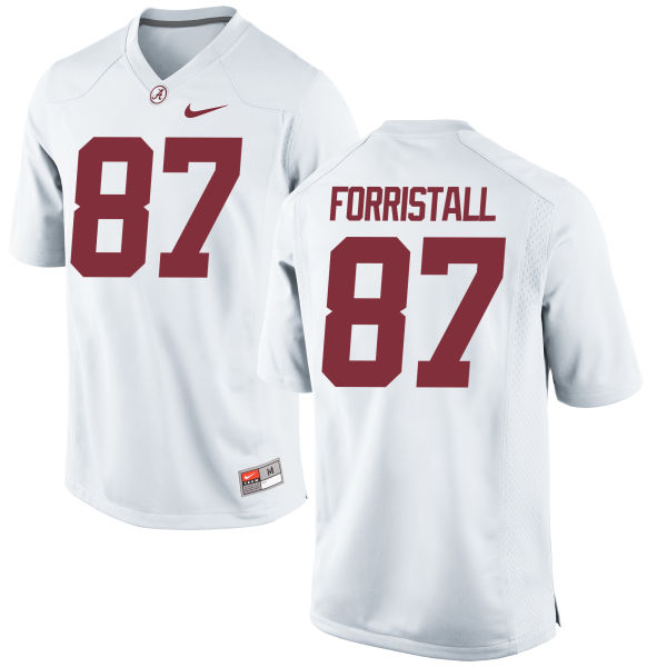 Men's Nike Miller Forristall Alabama Crimson Tide Game White Jersey
