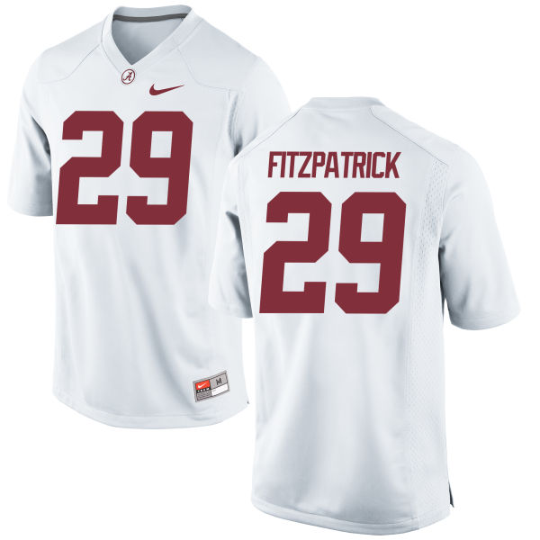Men's Nike Minkah Fitzpatrick Alabama Crimson Tide Game White Jersey