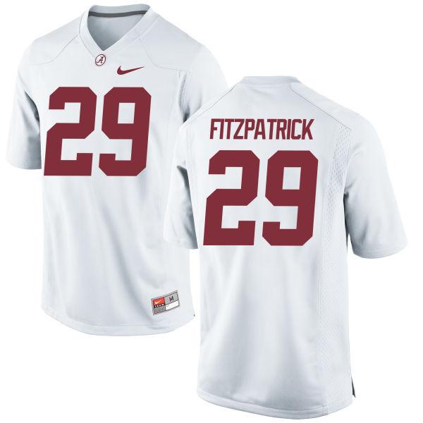 Men's Nike Minkah Fitzpatrick Alabama Crimson Tide Game White Jersey