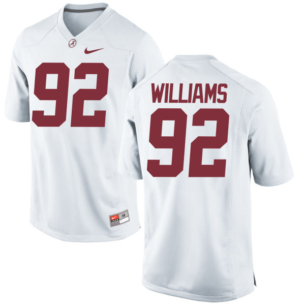 Men's Nike Quinnen Williams Alabama Crimson Tide Replica White Jersey