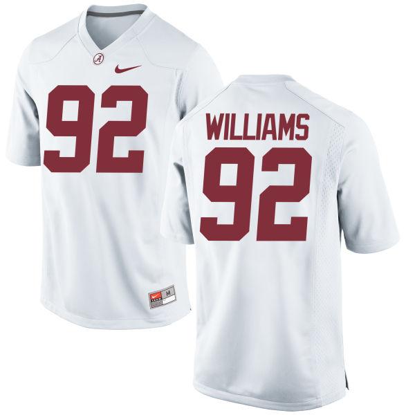 Men's Quinnen Williams Alabama Crimson Tide Replica White Jersey