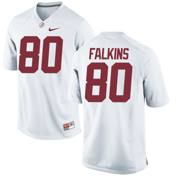 Youth Nike Raheem Falkins Alabama Crimson Tide Game White Jersey