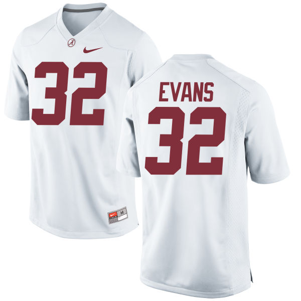 Men's Nike Rashaan Evans Alabama Crimson Tide Game White Jersey