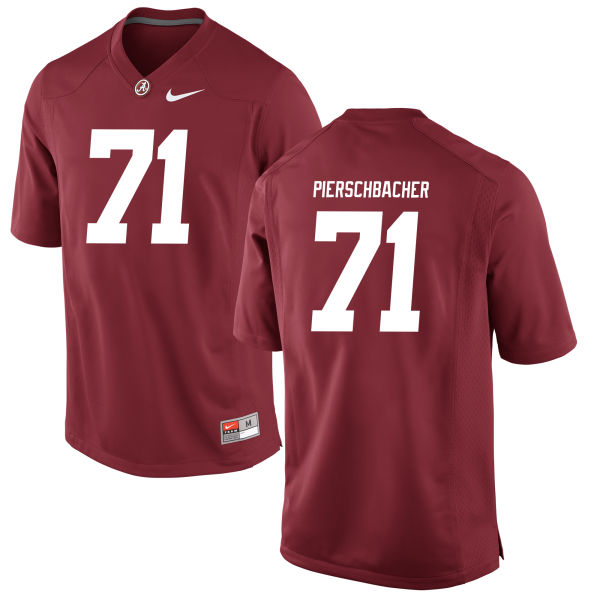 Men's Ross Pierschbacher Alabama Crimson Tide Authentic Crimson Jersey
