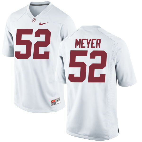 Men's Nike Scott Meyer Alabama Crimson Tide Replica White Jersey