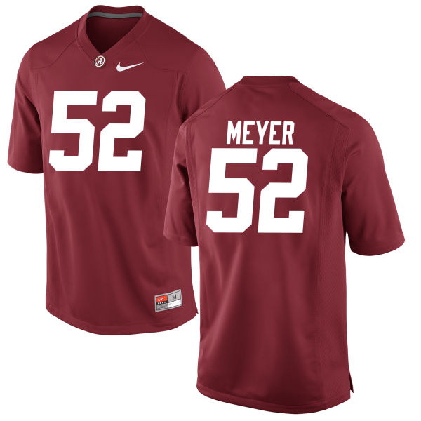 Men's Scott Meyer Alabama Crimson Tide Authentic Crimson Jersey