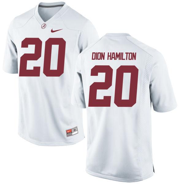 Men's Nike Shaun Dion Hamilton Alabama Crimson Tide Replica White Jersey