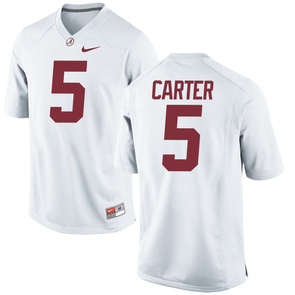 Men's Nike Shyheim Carter Alabama Crimson Tide Game White Jersey