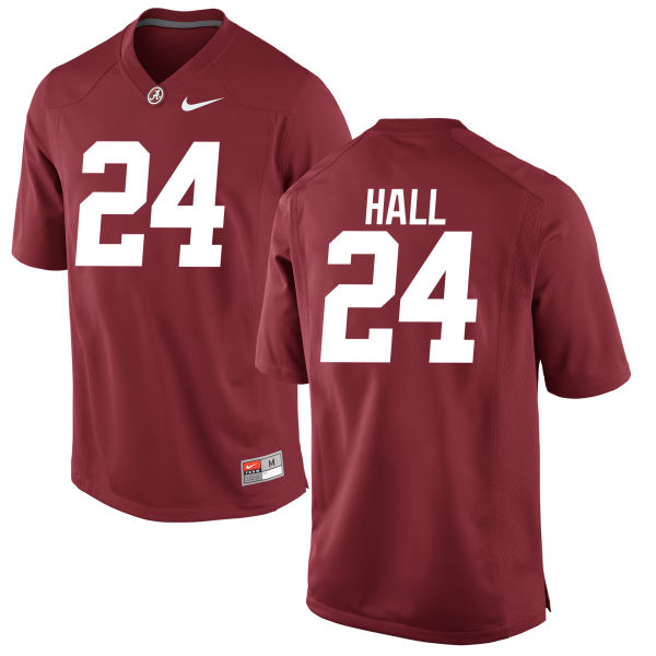 Youth Terrell Hall Alabama Crimson Tide Authentic Crimson Jersey