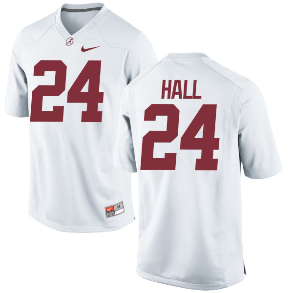 Women's Nike Terrell Hall Alabama Crimson Tide Authentic White Jersey