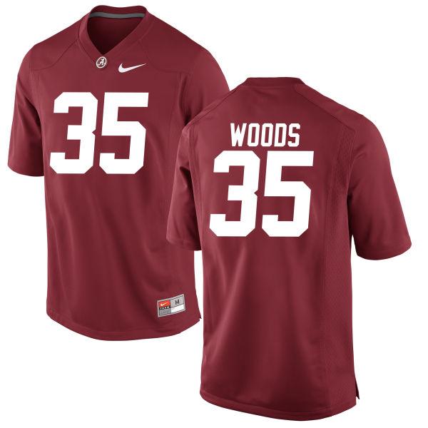 Youth Thomas Woods Alabama Crimson Tide Authentic Crimson Jersey