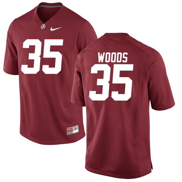 Youth Thomas Woods Alabama Crimson Tide Game Crimson Jersey