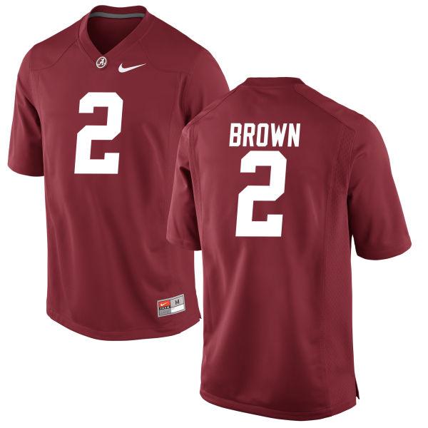 Men's Tony Brown Alabama Crimson Tide Replica Brown Jersey Crimson