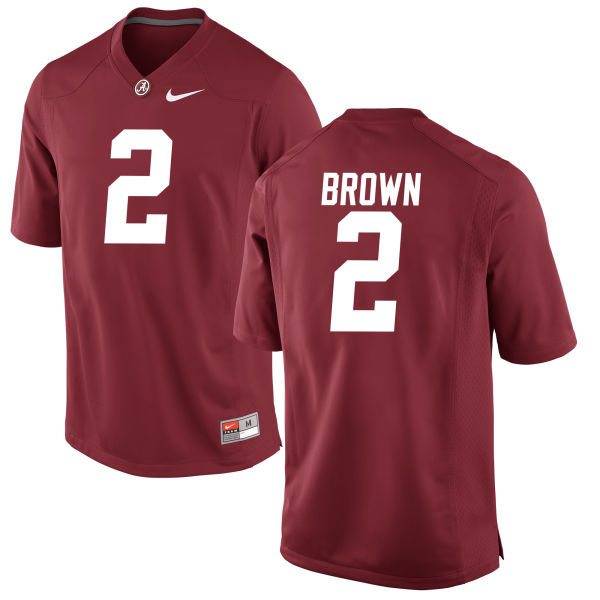 Men's Tony Brown Alabama Crimson Tide Authentic Brown Jersey Crimson