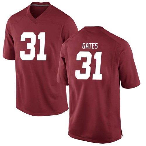 Men's Nike A.J. Gates Alabama Crimson Tide Game Crimson Football College Jersey