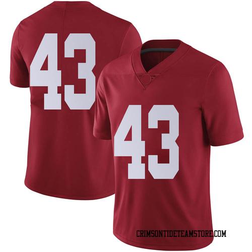 Men's Nike A.J. Gates Alabama Crimson Tide Limited Crimson Football College Jersey