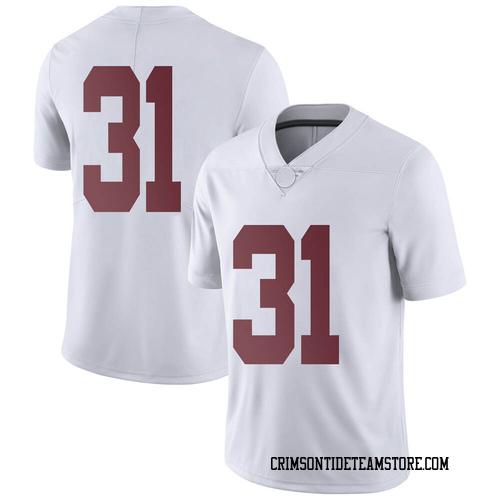 Men's Nike A.J. Gates Alabama Crimson Tide Limited White Football College Jersey