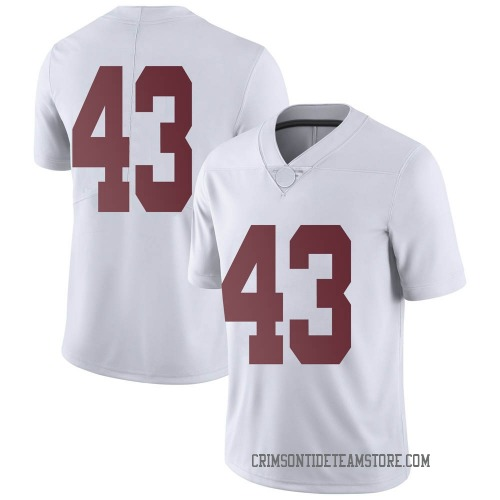 Men's Nike A.J. Gates Alabama Crimson Tide Limited White Football College Jersey