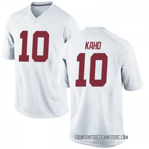 Men's Nike Ale Kaho Alabama Crimson Tide Game White Football College Jersey