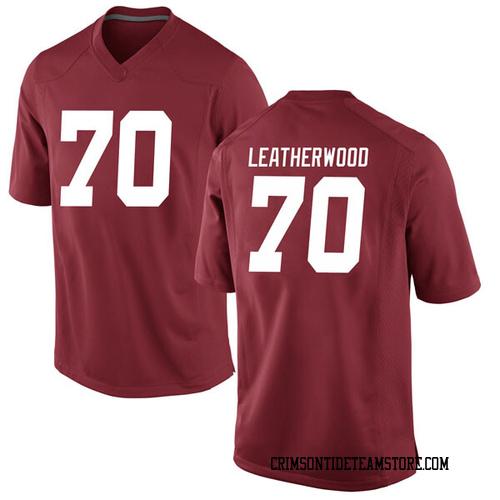 Men's Nike Alex Leatherwood Alabama Crimson Tide Game Crimson Football College Jersey