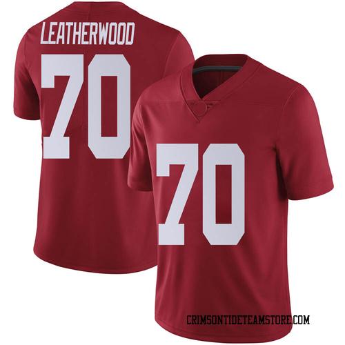 Men's Nike Alex Leatherwood Alabama Crimson Tide Limited Crimson Football College Jersey