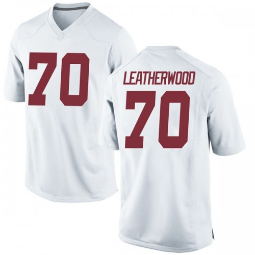 Men's Nike Alex Leatherwood Alabama Crimson Tide Replica White Football College Jersey
