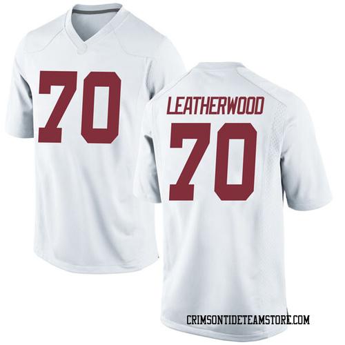 Men's Nike Alex Leatherwood Alabama Crimson Tide Replica White Football College Jersey