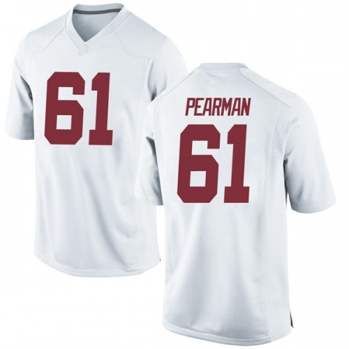 Men's Nike Alex Pearman Alabama Crimson Tide Game White Football College Jersey