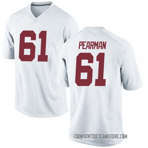 Men's Nike Alex Pearman Alabama Crimson Tide Replica White Football College Jersey