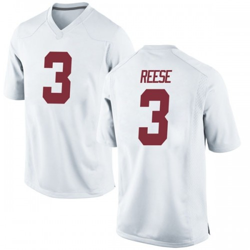 Men's Nike Alex Reese Alabama Crimson Tide Game White Football College Jersey