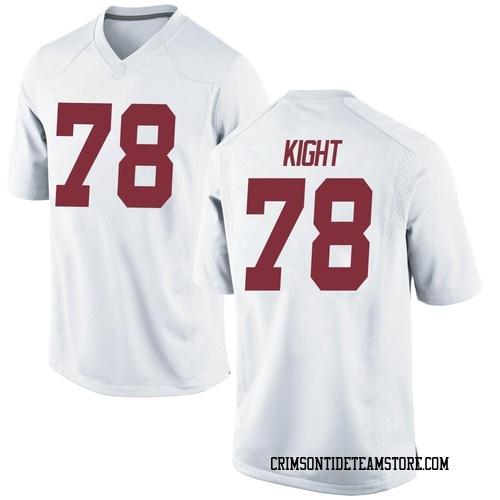 Men's Nike Amari Kight Alabama Crimson Tide Game White Football College Jersey