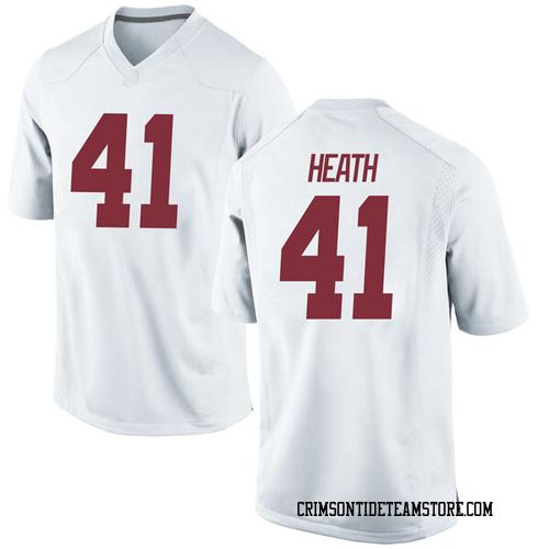 Men's Nike Andrew Heath Alabama Crimson Tide Game White Football College Jersey