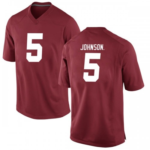 Men's Nike Avery Johnson Jr. Alabama Crimson Tide Game Crimson Football College Jersey