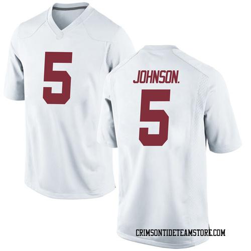 Men's Nike Avery Johnson Jr. Alabama Crimson Tide Game White Football College Jersey