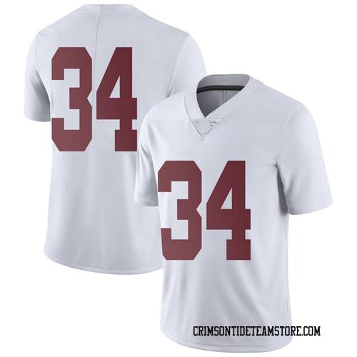 Men's Nike Brandon Bishop Alabama Crimson Tide Limited White Football College Jersey