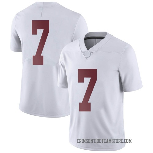 Men's Nike Brandon Turnage Alabama Crimson Tide Limited White Football College Jersey