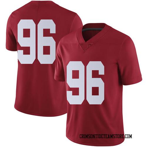 Men's Nike Brannon Satterfield Alabama Crimson Tide Limited Crimson Football College Jersey